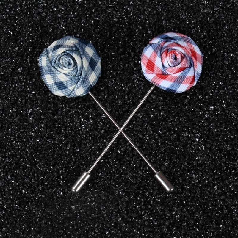 חייט סמית בעבודת יד פרח דש פין למעלה אופנה חליפה Boutonniere רוז צורת מקל סיכות Mens אביזרי 14 צבעים