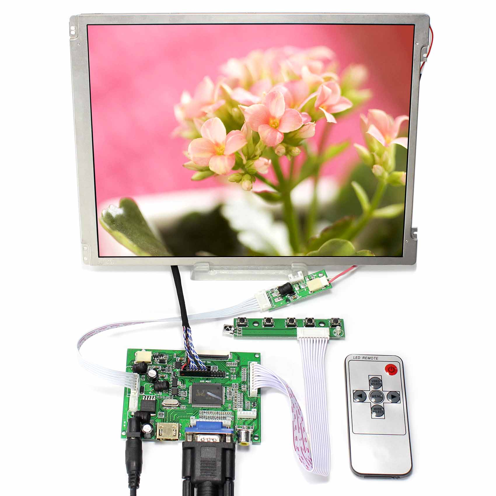 HDMI+VGA+2AV LCD Controller Board 10.4inch 800x600 LED Backlight Replace G104SN03 12 1inch 800x600 lq121s1lg75 lcd screen with led backlight