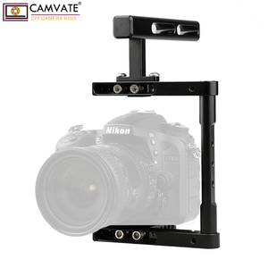 Image 3 - CAMVATE Aluminum Alloy Camera Generic Cage Rig With Top Handle For DSLR Camera Stable Support System Photography Accessories New