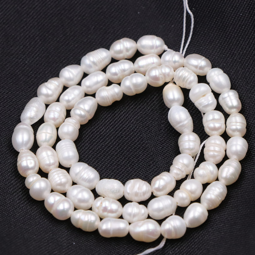 5-6mm Rice Freshwater Natural Pearl Bead White Pearls Loose Beads for DIY  Necklace Bracelet e5e5f11da039