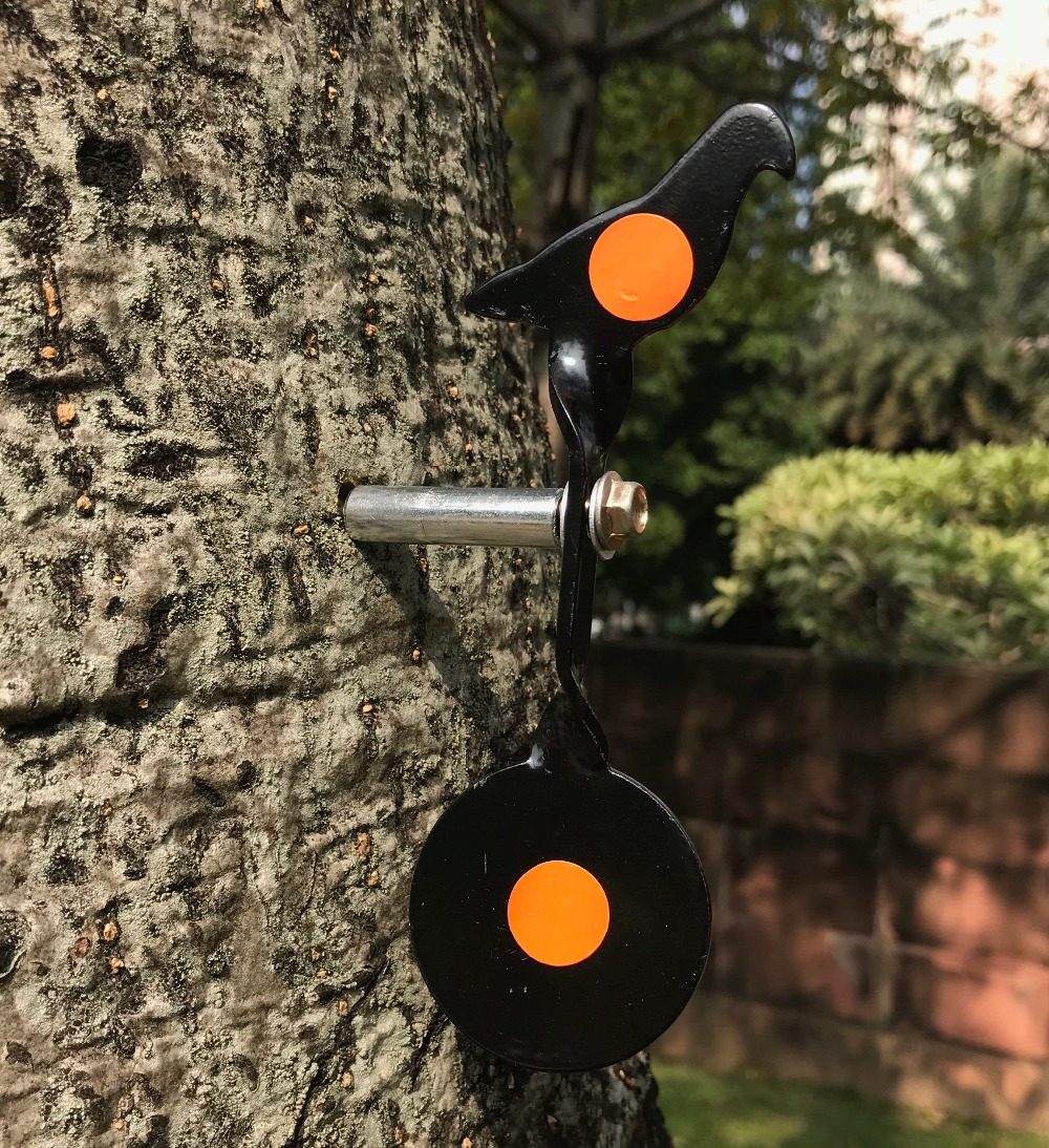 Screwed-type Black Steel Plinking Target