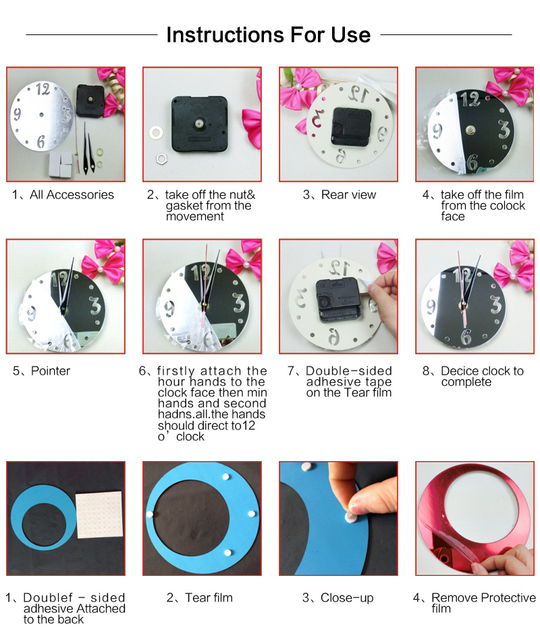 Reloj de pared new real rushed Wall clock For home decoration