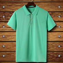 Adsmoney men's solid color lapel short sleeve Polo sport mens clothing shirts Badminton Golf Breathable Sport Shirt