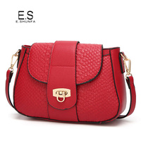 Women Crossbody Bag 2017 New Arrival Fashion Small Shoulder Bags Womens PU Leather Casual Alligator Cross Body Bags Black Red