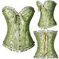 New Fashion Mulheres Lace up Bustier Espartilho Basque Burlesque Overbust Gothic Lingerie EUA
