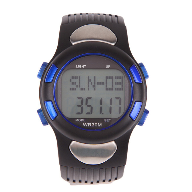 P1005M LED Digital Sport Watch 3D Pedometer Calories Counter Pulse Heart Rate Monitor Running Watch For Outdoor Sports Quality