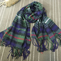 Luxury 210*72cm Women Shawls Scarf Casual Femme Red Black Plaid Scarves for Women Girls F059-1