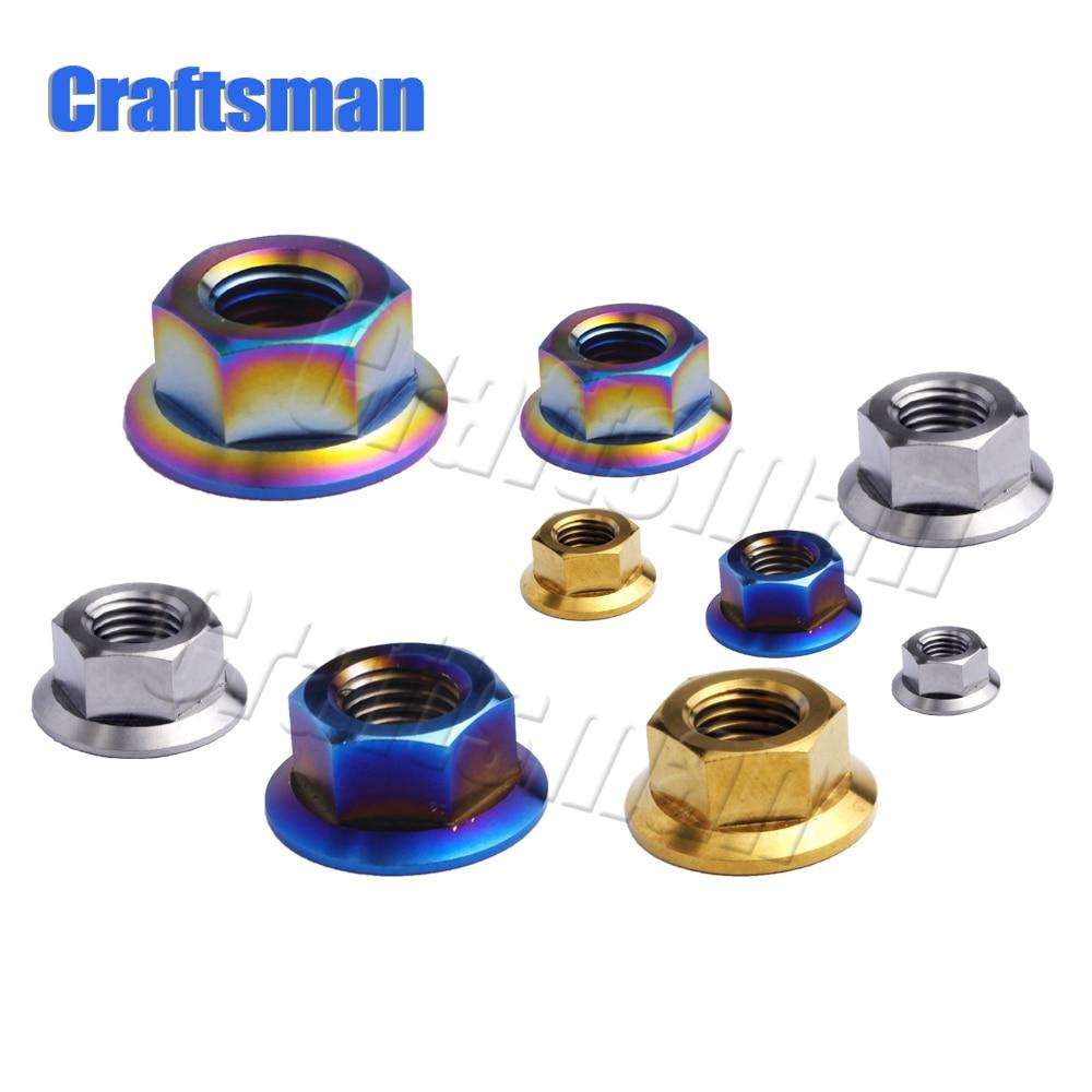 M6x33mm Ti//Golden//Rainbow GR5 Titanium Bolts /& Rod Nut For Bike Rear Suspension