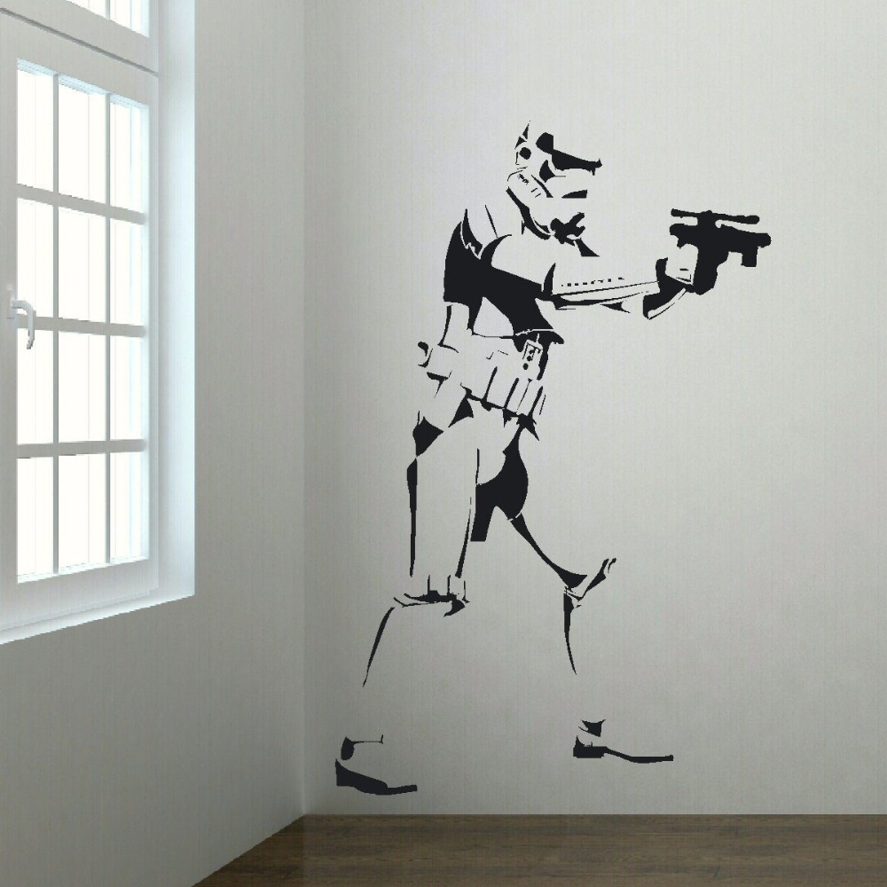 EXTRA LARGE STORM TROOPER STAR WARS LIFE SIZE VINYL STICKERS WALL ART BIG  MURAL STICKER DECAL