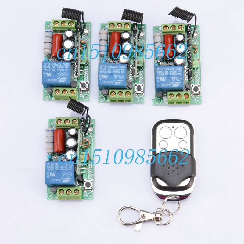 220V 10A 1CH wireless remote control switch system the mini receiver kit board and remote control automation smart home z-wave 1ch wireless remote control switch system z wave 12v 4pcs receiver