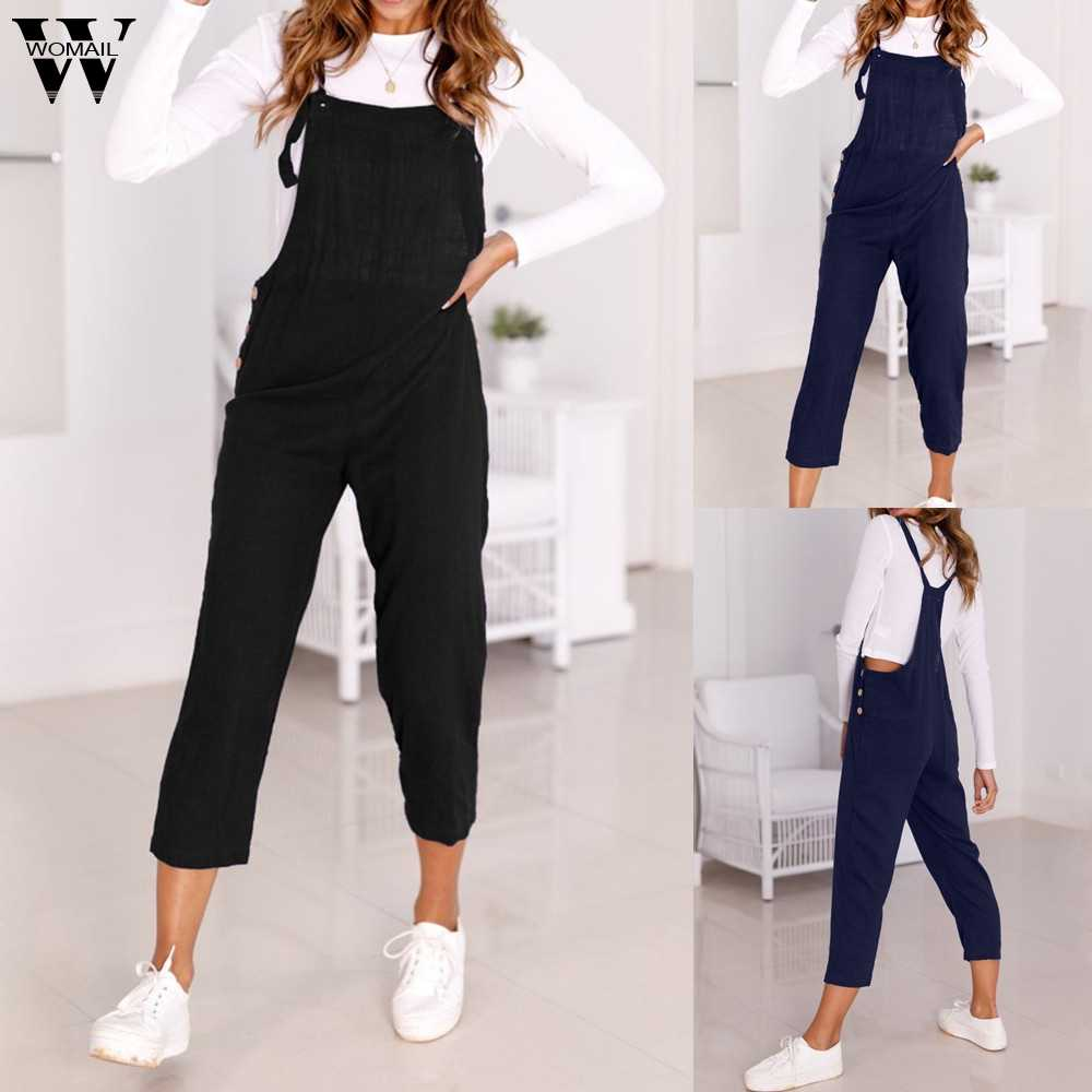 Womail bodysuit Vrouwen Zomer Toevallige Spaghetti Band Breed Benen Bodycon Jumpsuit Broek Clubwear Rompertjes fashion2019 dropship M1