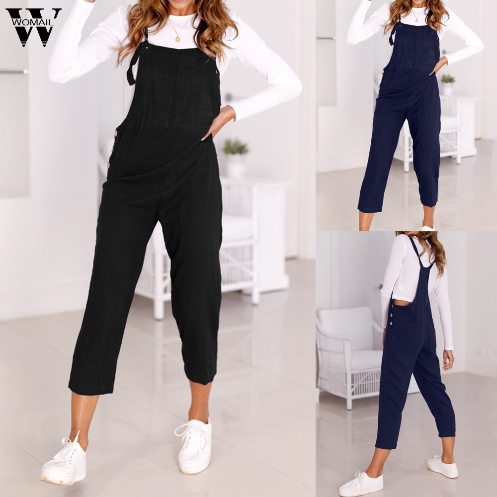 Womail Bodysuit Women Summer Casual Spaghetti Strap Wide Legs Bodycon Jumpsuit Trousers Clubwear Rompers Fashion 2020  M1
