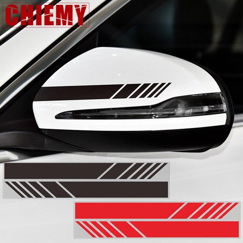 1lot Side Rear View Mirror Stripes Vinyl Decal Car Sticker For Mercedes Benz W205 W204 W212 W117 W176 W213 Edition 1 AMG Style