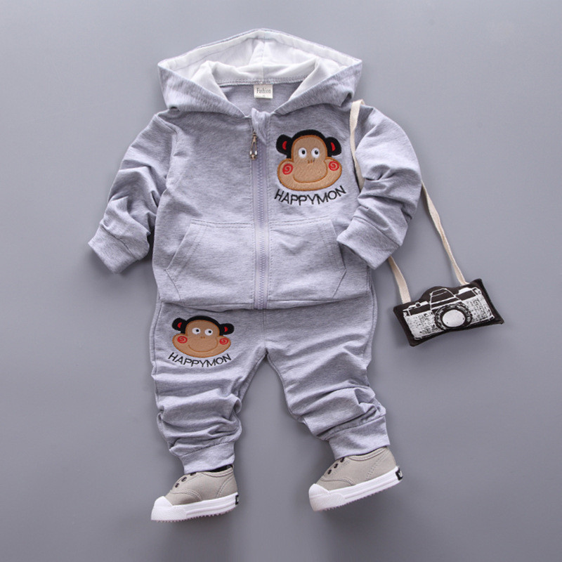2pcs Baby Sets 2 Colors Cotton Autumn Spring Baby Clothing Set Girl Outfit Monkey Striped Newborn Boys Clothes Set 2 Colors SKB07 (4)