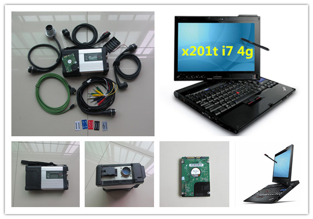 mb star c5 2020 newest diagnostic tool for cars and truck software in hdd with x201t laptop touch screen ( i7 4g)