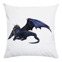 Cushion Cover dinosaur Printed Polyester&Cotton Decorative Pillow Cases Cover Home Sofa Pillowcase 1PCS/Lot CR186