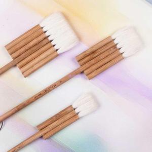 Image 3 - 2690 3PCS/set goat hair carbonated bamboo handle watercolor artist art supplies paint brush