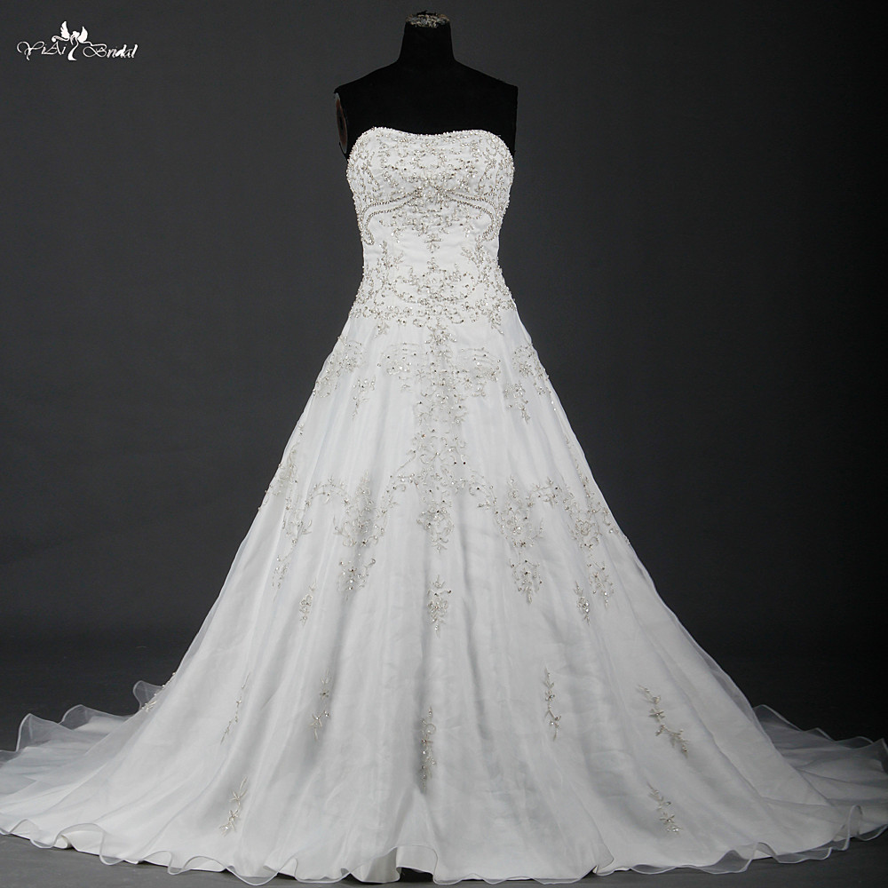Weddings 826: RSW826 China Wedding Dresses A Line Silver Embroidery 2016