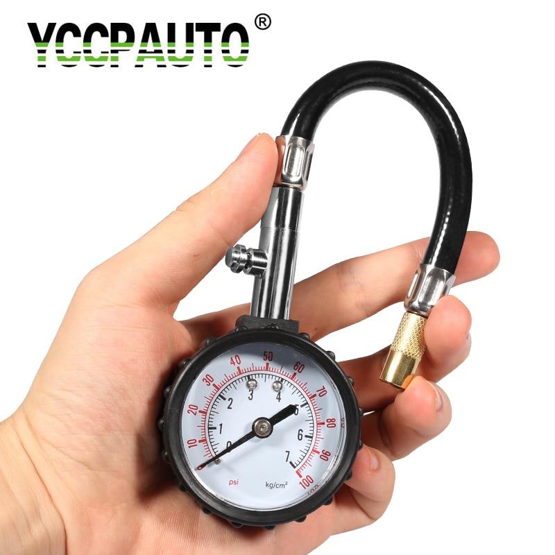 Long Tube Tire pressure gauge meter 0-100Psi High-precision