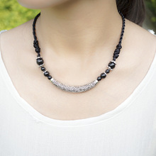 Handmade Tibetan Silver and Stone Necklace