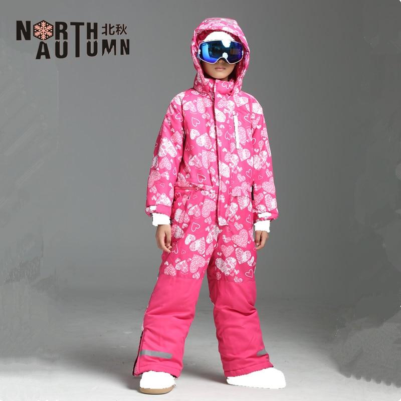 Combinaisons de Ski d'hiver pour filles combinaison de Ski garçon salopette imperméable enfants combinaison de Ski combinaison de Ski en plein air costume de Sport pour les garçons chaud