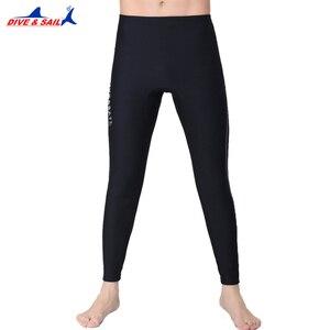 Image 3 - 1.5MM neopren dalış ayak bileği uzunlukta pantolon erkekler kadınlar için dalış Capri pantolon yüzme kürek yelken sörf sıcak