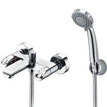 Смеситель для ванны WasserKRAFT Lossa 1201 (Керамические кранбуксы, встроенный аэратор, латунь, хромоникелевое покрытие)