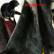 Black Mink fur approx 25cm*50cm/pcs Animal Pelt sell it by pcs