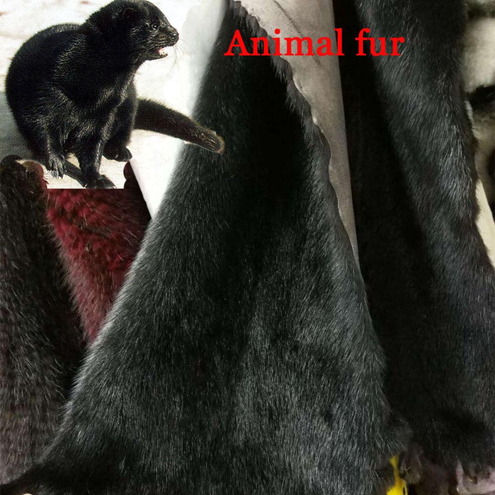 Czarne futro z norek około 25cm * 50 cm/sztuk zwierząt futro z norek futra go sprzedać przez szt w Futro od Dom i ogród na  Grupa 1