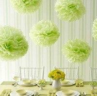 10 pçs/lote Colorido o Tecido Bola Flor de Papel Tissue Pom Poms Festa de Casamento Decoração 35 cm 14