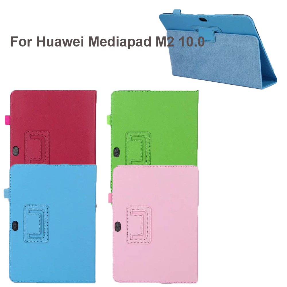 Case For Huawei M2 10.0 Ultra Thin Smart Cover For M2-A01L / M2-A01M / M2-A01W 10.1 Tablet Pc New Hard Pu Leather Fold Shell image