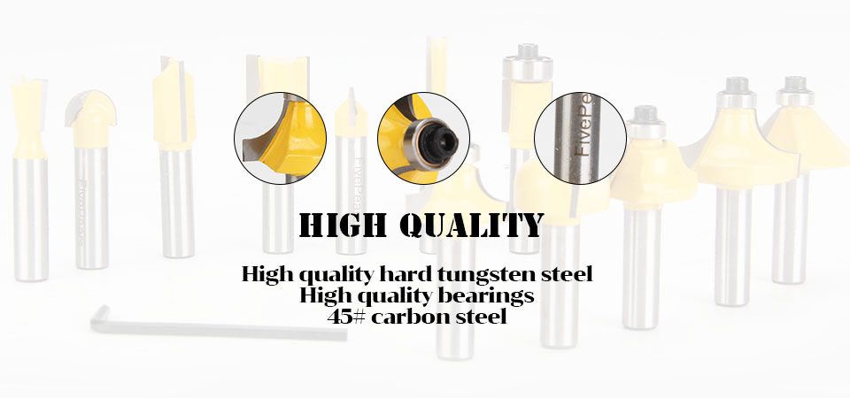 High Quality 8mm router bit set