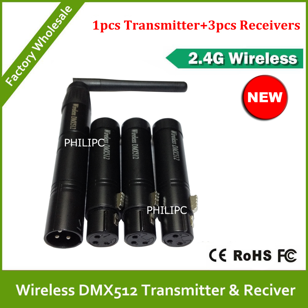 DHL Free Shipping Wireless DMX Controller Wireless DMX512 Transmitter And Receiver DMX Light stage Controller