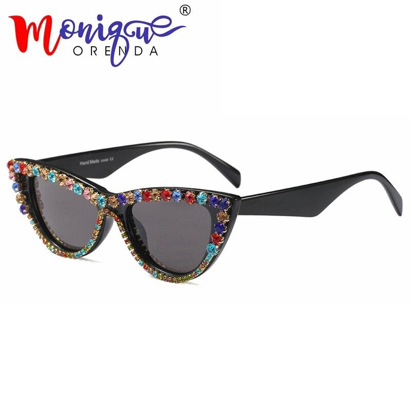 10 Cor Do Olho de Gato Óculos De Sol Das Mulheres Designer de Marca Retro  Vintage 9e4fb96012