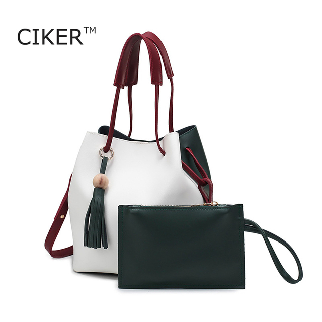 CIKER Fashion bucket bag women leather handbags luxury messenger bag casual famous brands shoulder crossbody bag bolsas feminina