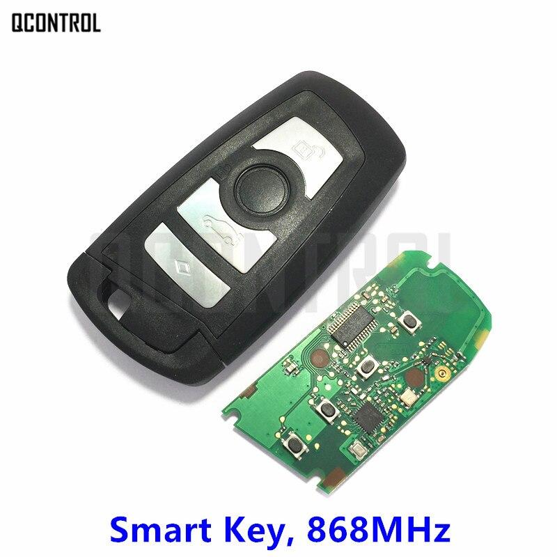 QCONTROL Nouvelle Smart Key Auto À Distance 868 MHz pour BMW 1 3 5 7 Série De Verrouillage Contrôleur CAS4 CAS4 + Système avec Lame de la Clé