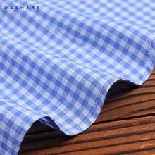U&SHARK 2018 Autumn Mens Plaid Casual Shirts Long Sleeve 100% Cotton Dress Shirts Men Blouse Business Formal Shirt Social Male