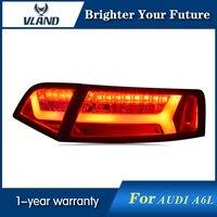 For Audi A6L Tail Lights 2009 2012 LED Tail Lamp Rear Lamp DRL+Brake+Park+Signal led lights