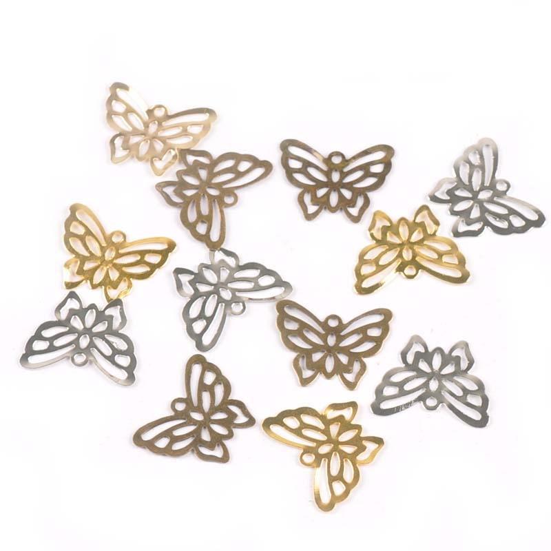 10pcs//set Hollow Butterfly Wooden Button DIY Sewing Scrapbooking Home Decors