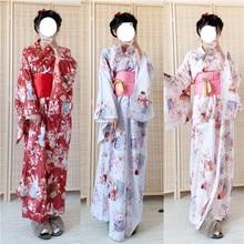 Japonês tradicional quimono vestido oriental elegante yukata mulher ano novo festival quimono obi trajes cosplay vintage