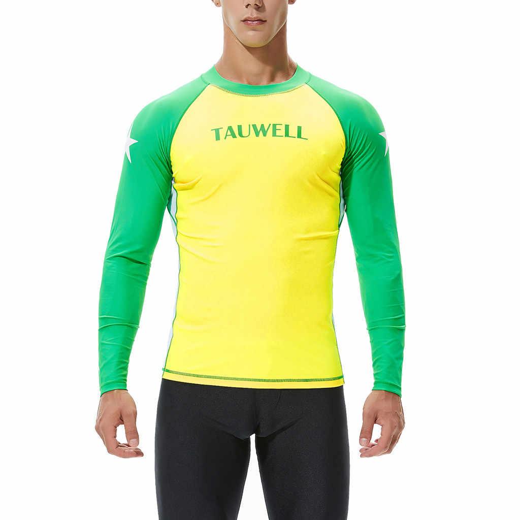 Erkekler uzun kollu Rashguard UV güneş koruma derileri 18 sörf dalış yüzme erkekler dalgıç kıyafeti sörf kıyafeti 2019 yeni moda A30430