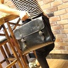 Marque crazy horse pu porte-documents en cuir angleterre style hommes d'affaires messenger sacs de haute qualité casual hommes sac à bandoulière pour hommes