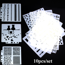 Craft Templates Tattoo-Stencil Scrapbooking Wall-Painting for Embossing-Paper-Card Body-Art