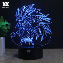 Dragon Ball Son Goku 3D Lamp Creative LED 7 Color Remote Control Night Light Cartoon Home Decor Children'sRoom Table Lamp