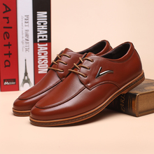 Men's Casual Shoes Breathable Height Increasing Dress Shoes British Spring and summer Lace-Up Fashion Style