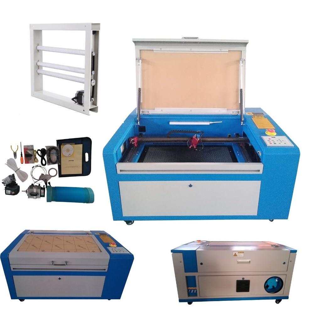(Navire de ETATS-UNIS) 50 w CO2 Laser Gravure Machine De Découpe CNC Graveur Cutter De Haute Précision USB Port