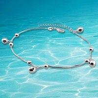 2014 brand new fashion solid genuine 925 sterling silver women anklet retail,leg bracelet