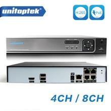 H.265/H.264 4CH 8CH 48V POE IP Camera NVR Security Surveillance CCTV System P2P ONVIF 4*5MP/ 4*4MP HD Network Video Recorder