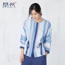 XianRan 2017 Women Loose Shirts Casual Linen Shirts O-Neck Regular Sleeve High Quality Bat Shirt Free Shipping New Arrival