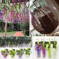 72 cm plantas artificiais falso flores wisteria vine leaf garland folhagem diy decor
